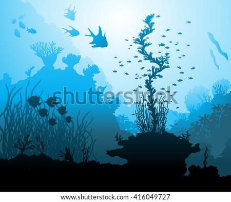 ocean underwater world with