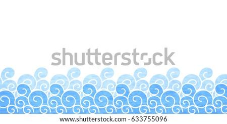 ocean wave japanese paper