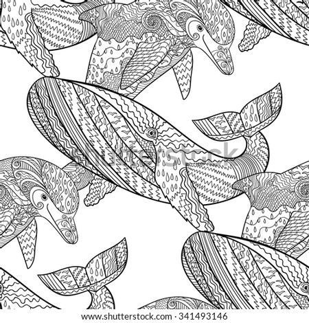 oceanic animal zentangle