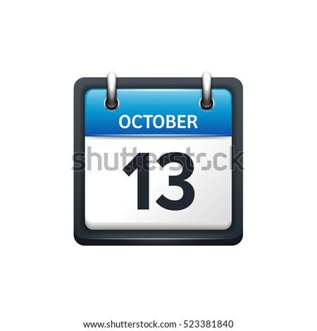 october 13 calendar icon