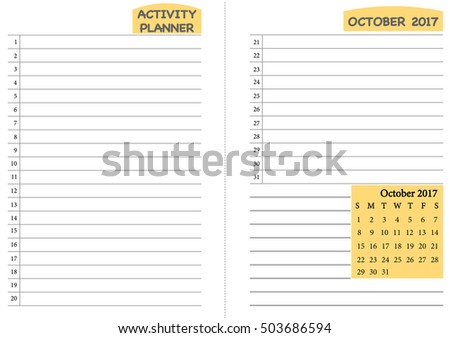 Royalty Free Stock Photos and Images: October 2017 calendar ...