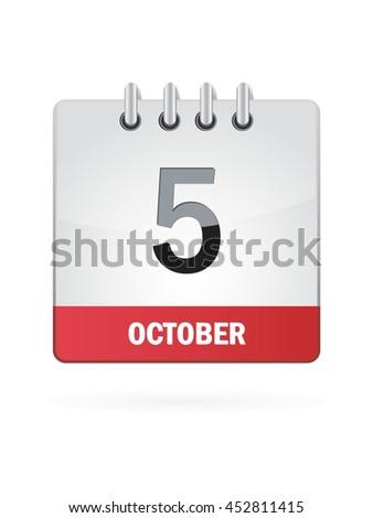 october five calendar icon