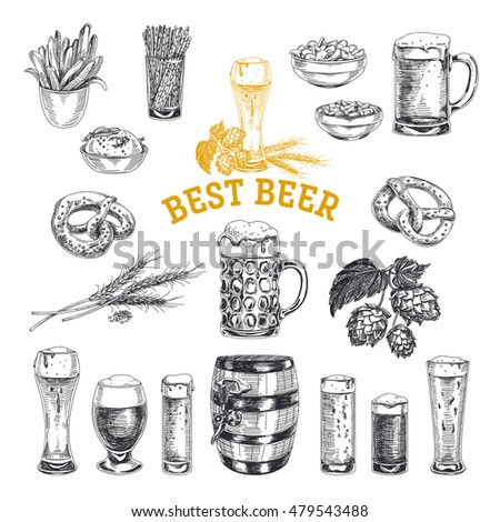 octoberfest vector set. beer...