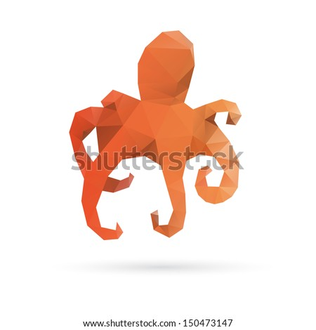 Octopus abstract isolated on a white backgrounds