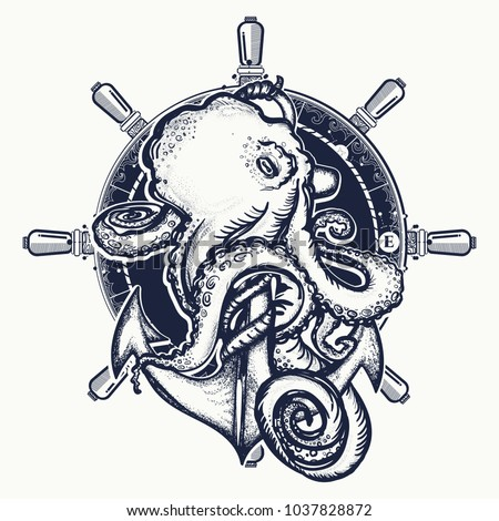 octopus and anchor tattoo