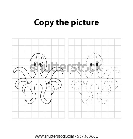 octopus  copy the picture  game
