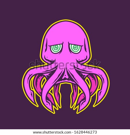 octopus kraken gaming logo style