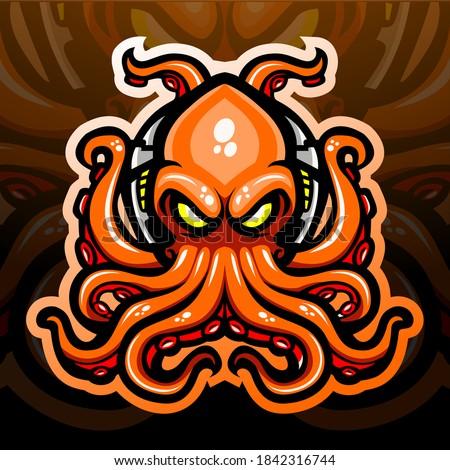 octopus kraken mascot esport