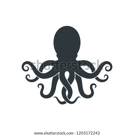 Octopus logo. Isolated octopus on white background   Сток-фото ©