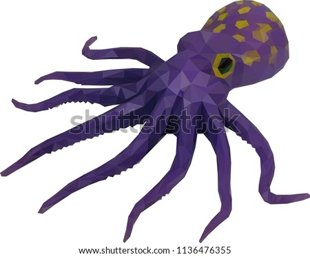 Octopus Low Poly Art