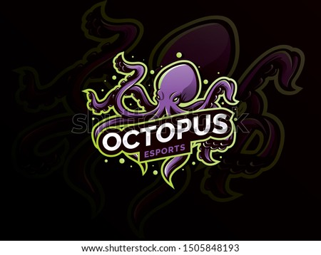 octopus sport mascot logo