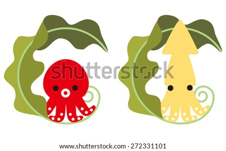 octopus  squid and kelp of
