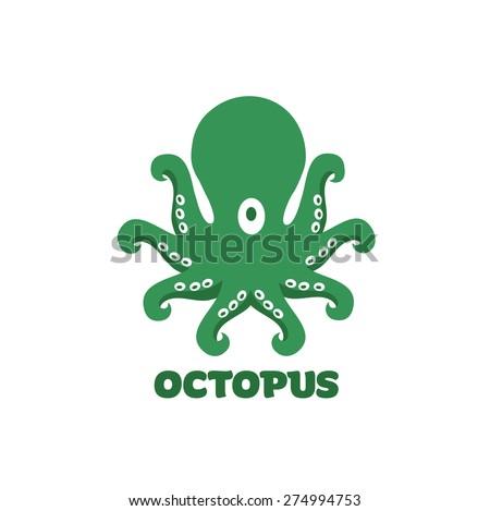 octopus symbol icon or logo