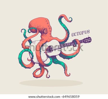 octopus vector illustration of