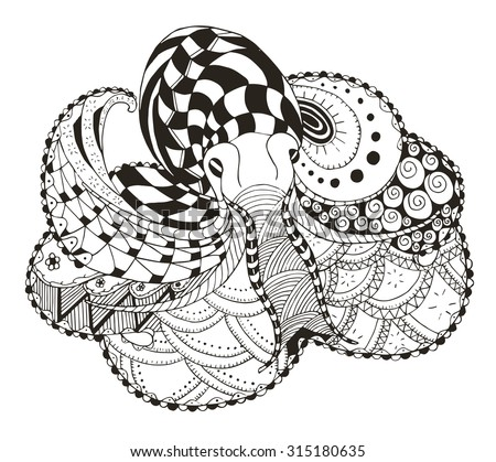 octopus zentangle stylized