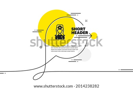 Oculist doctor icon. Continuous line chat bubble banner. Health eye sign. Optometry clinic symbol. Oculist doctor icon in chat message. Talk comment and speak background. Vector Zdjęcia stock ©