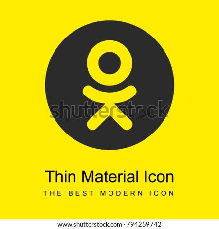 Odnoklassniki logo bright yellow material minimal icon or logo design