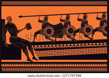 Odyssey Polyphemus titan attacked by Odysseus greek myth