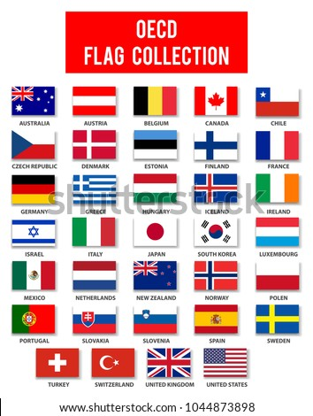 OECD Members Flag Collection - Complete