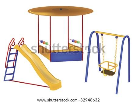 of children's playground on a white background