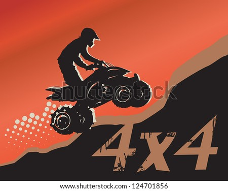 Off-road absctract background, vector illustration