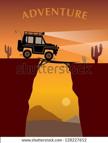 off road adventure  vector