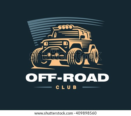 off road car logo illustration