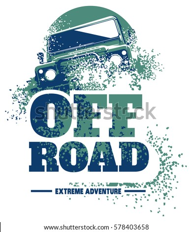 off road car logo  safari suv