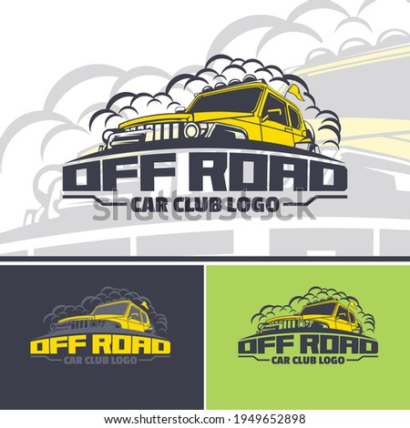 off road car logo template in