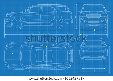 off road car schematic or suv