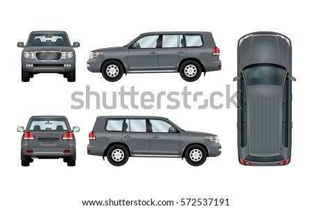 off road car template vector