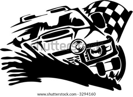 Sports Motorsports Auto Racing  Road Racing on Off Road Car  Vector Illustration    3294160   Shutterstock