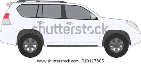 off road car vehicle isolated