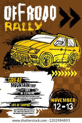 off road event vector poster