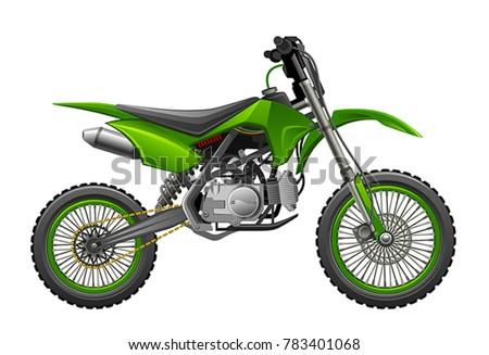 off road green motorcycle