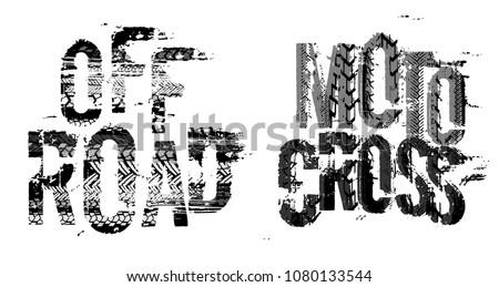 off road grunge moto lettering