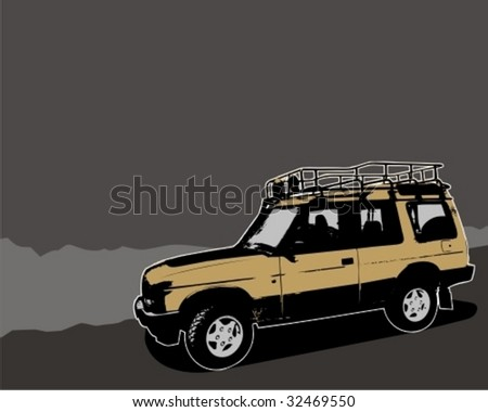 Off-road jeep. Vector illustration.