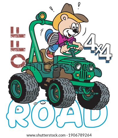 Off Road pictures vector illustration for your T shirt or your Cards Stock photo ©