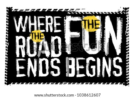 off road quote lettering