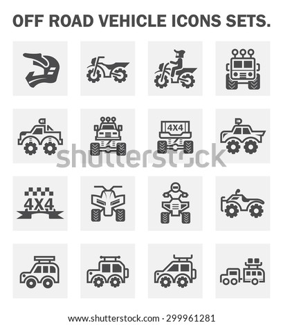 off road vehicle icons sets