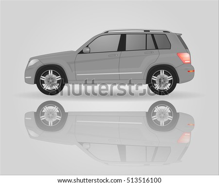 off road vehicle isolated on