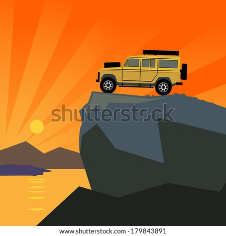off road vehicle mountain
