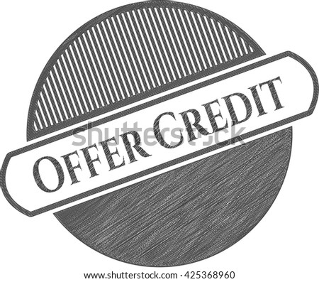 Offer Credit pencil strokes emblem