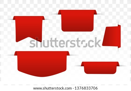 Offer tags. Vector illustration. Sale banners