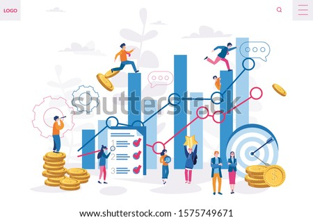 Offering enhance productivity, finance success, Vector illustration for web banner, infographics, mobile. Workforce management, Increasing business profit