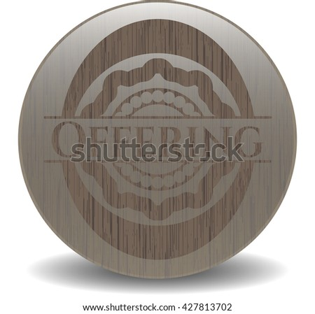 Offering realistic wood emblem