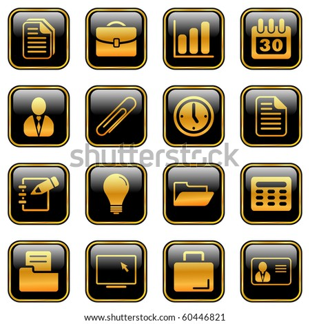 Office and business icons for your products and designs, isolated objects