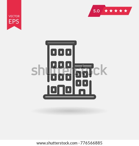 Office Building Icon. Professional, pixel perfect icons optimized for both large and small resolutions. EPS 8 format.