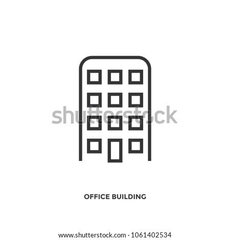 office building icon vector