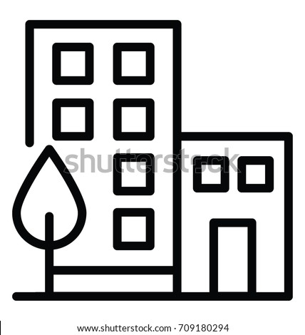 Office Building Vector Icon